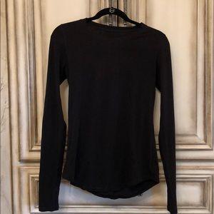 Lululemon basic cotton long sleeve tee in black